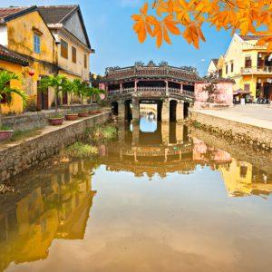 See the Japanese Bridge in Hoian